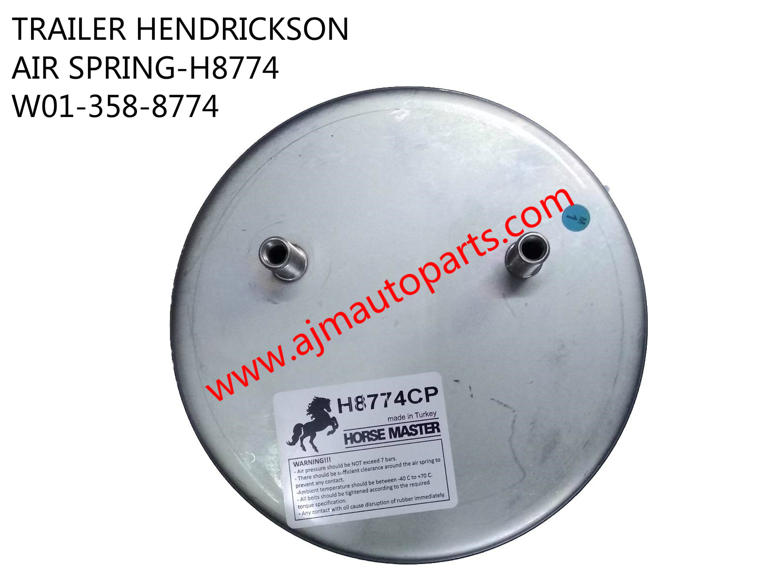 TRAILER HENDRICKSON AIR SPRING-H8774 W013588774