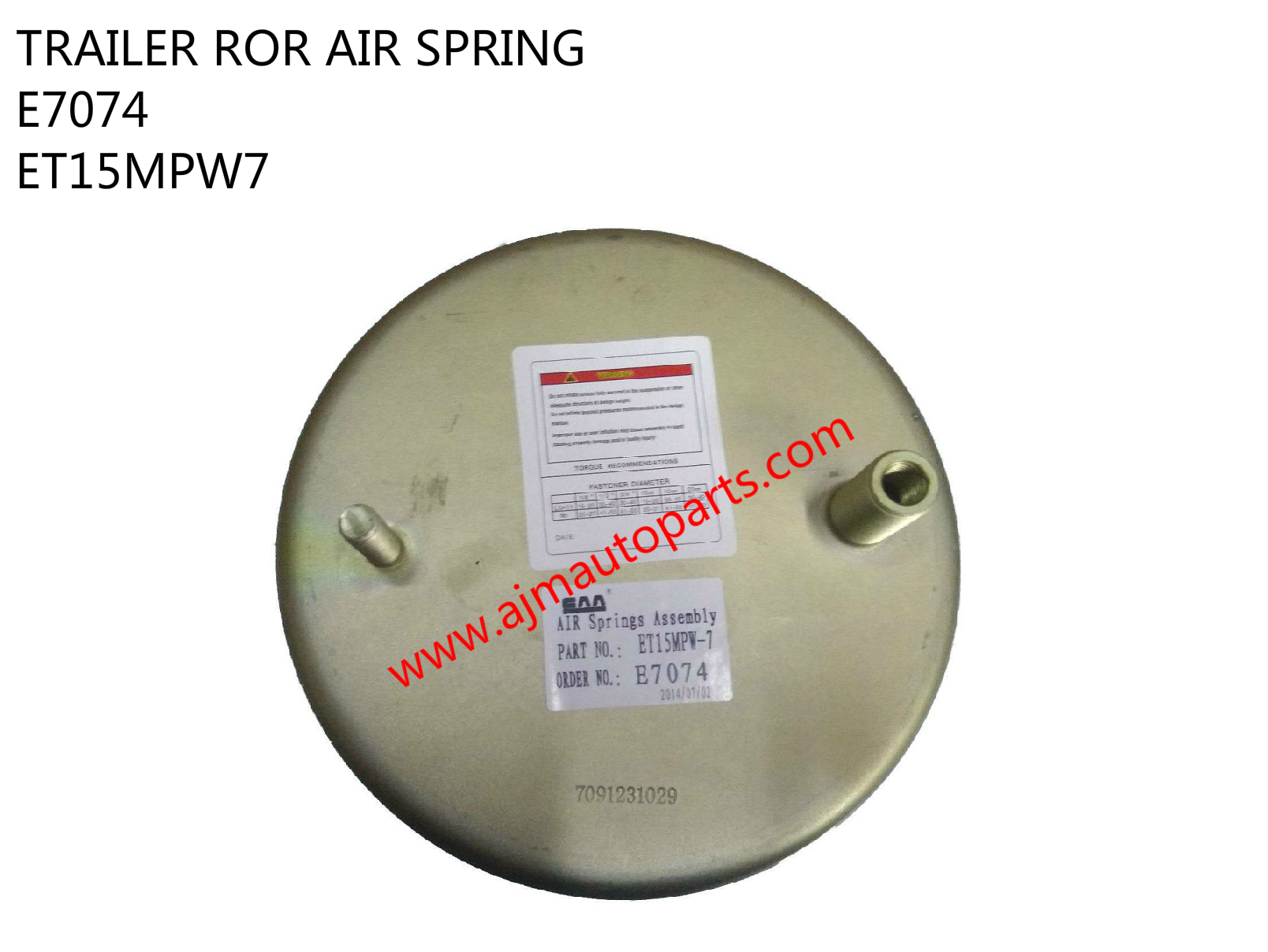 TRAILER ROR AIR SPRING-E7074