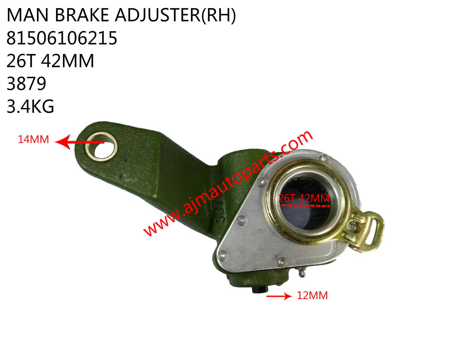 MAN BRAKE ADJUSTER-81506106215-3879