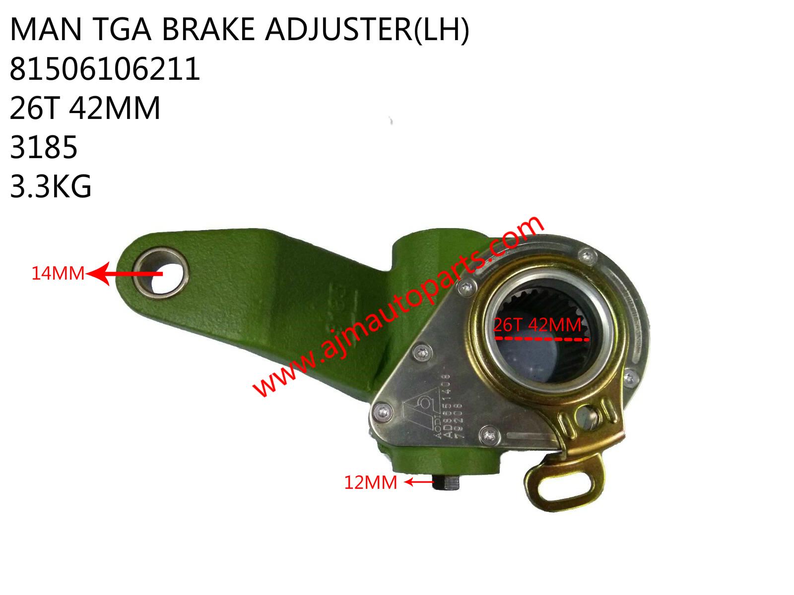 MAN TGA BRAKE ADJUSTER(LH)-81506106211-3185