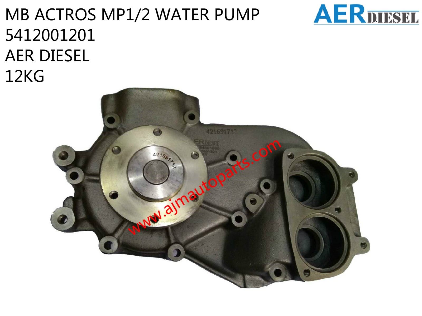 MB ACTROS MP1-2 WATER PUMP-5412001201