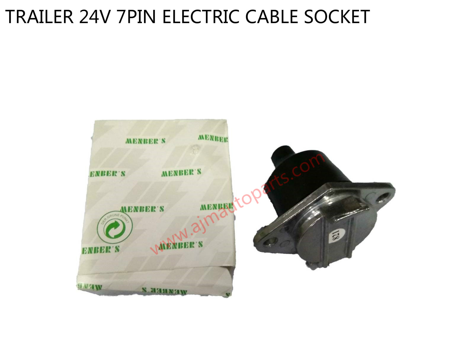 TRAILER 24V 7PIN ELECTRIC CABLE SOCKET