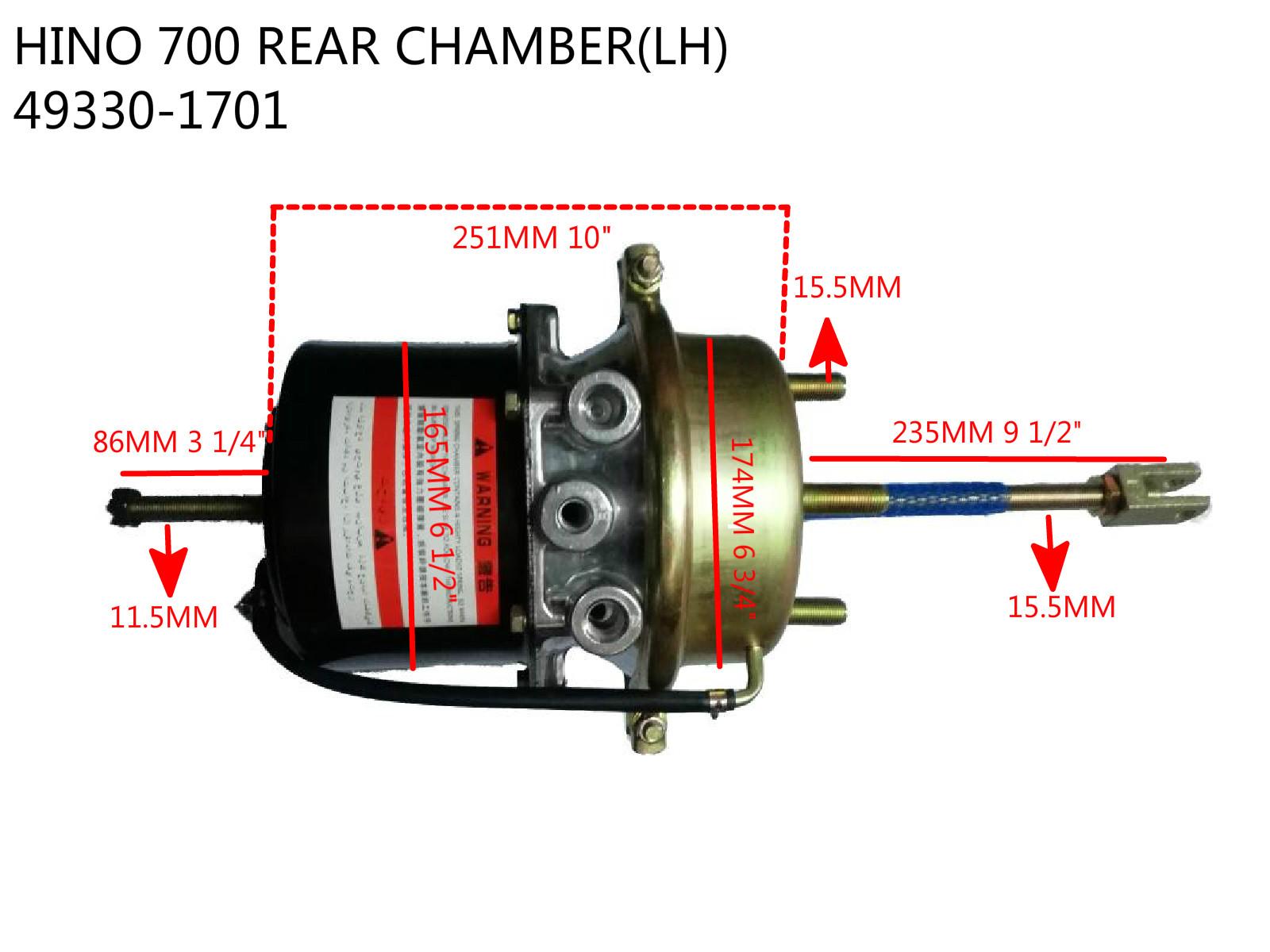 HINO 700 REAR BRAKE CHAMBER-49330-1701