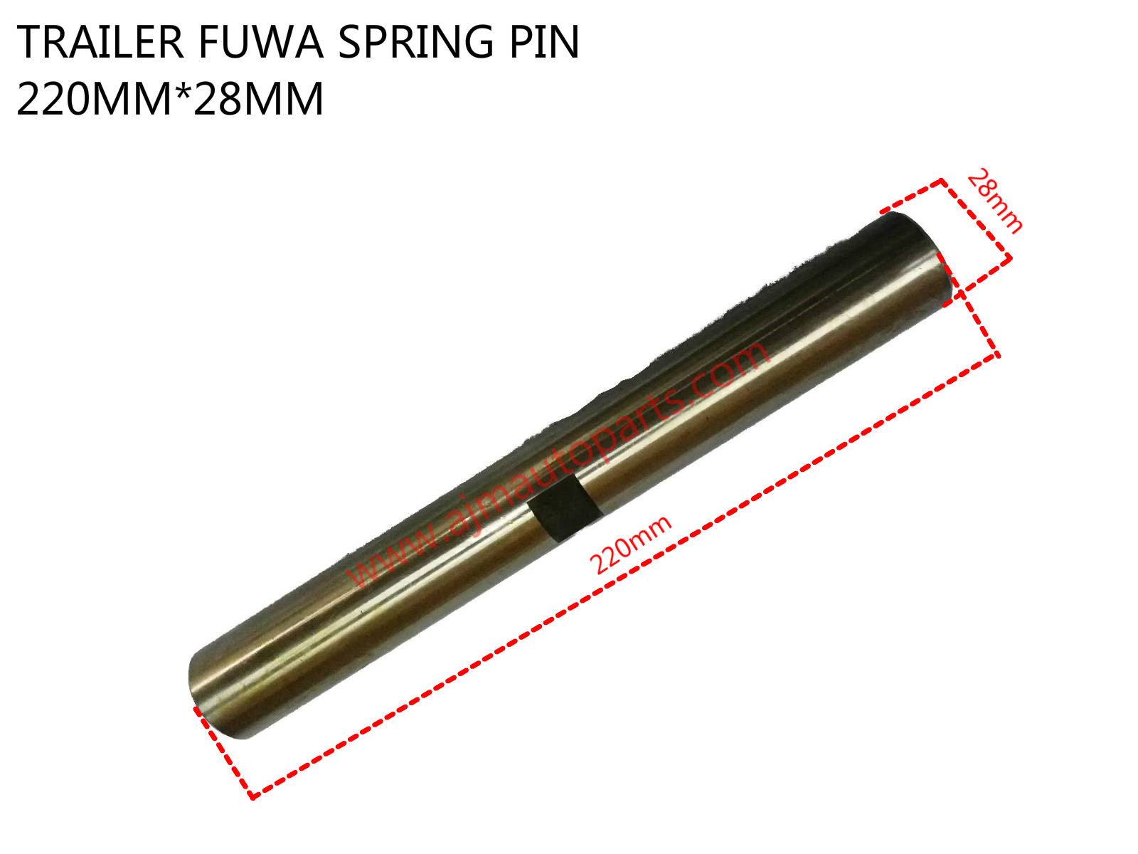 TRAILER FUWA SPRING PIN-28MMX220MM