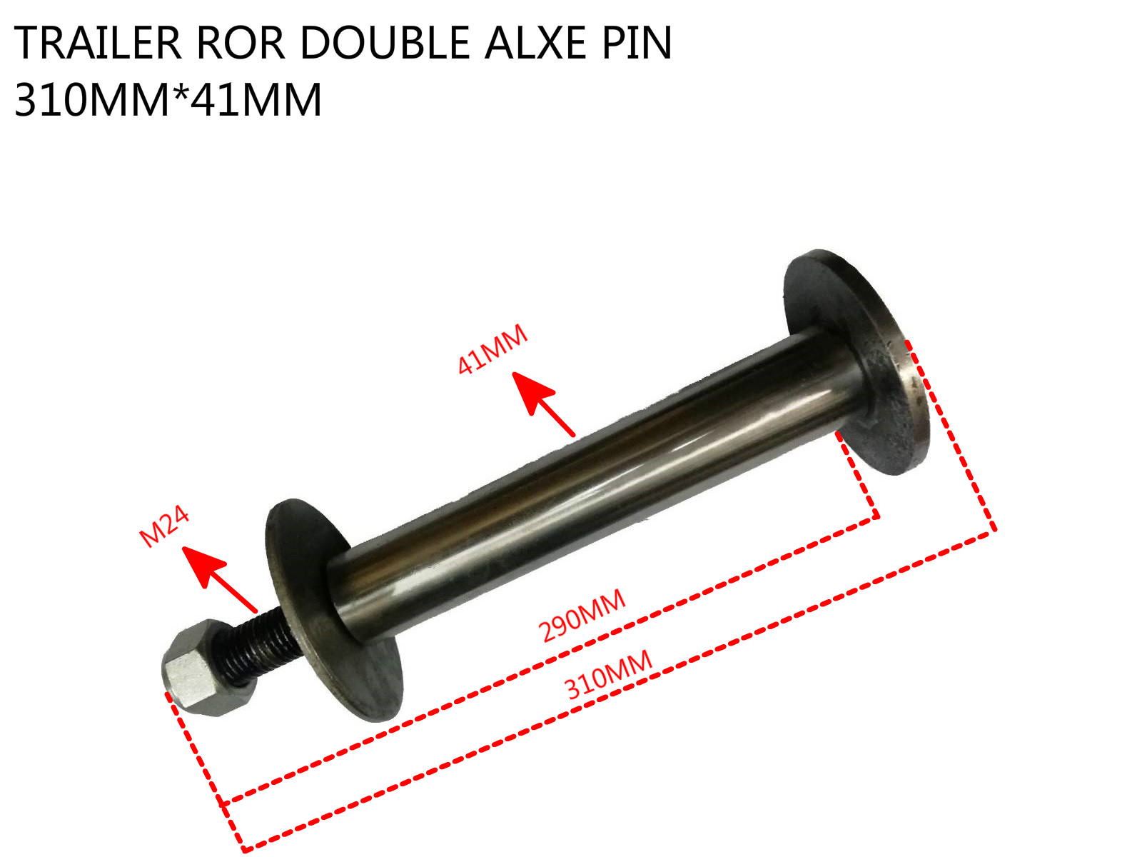 TRAILER ROR DOUBLE AXLE PIN